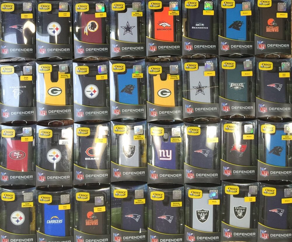 Otterbox Defender Cases w/ Clip for Galaxy S4 / S5 / S6 NFL Edition ...