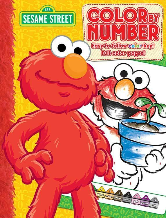 Sesame Street Color By Coloring Book Elmo See My Store