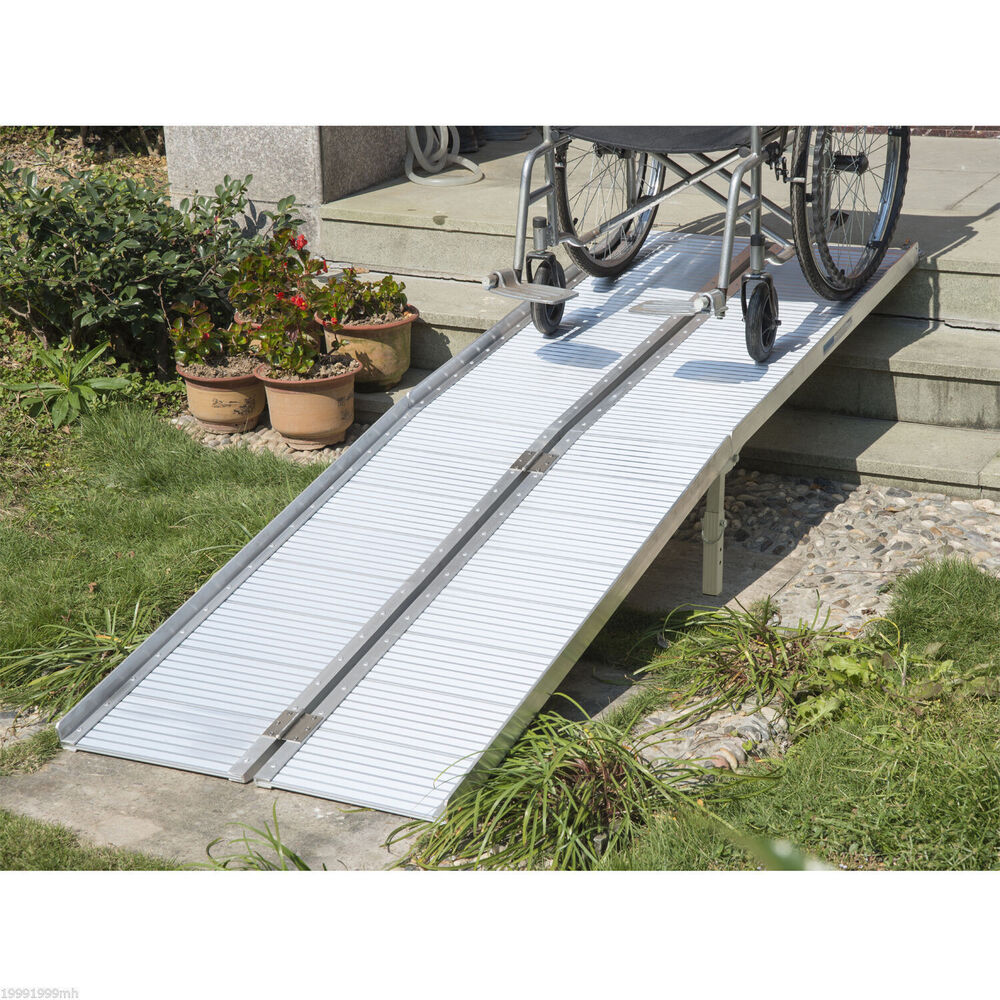 8 39 aluminum wheelchair ramp loading ramp scooter mobility