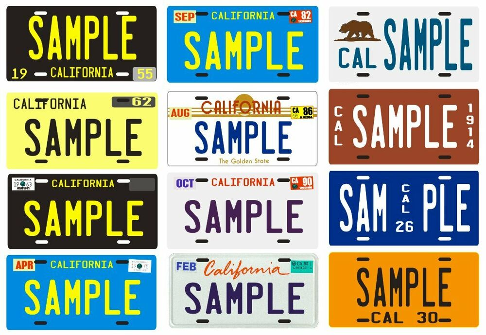your name your state custom metal california license plate several designs ebay. Black Bedroom Furniture Sets. Home Design Ideas