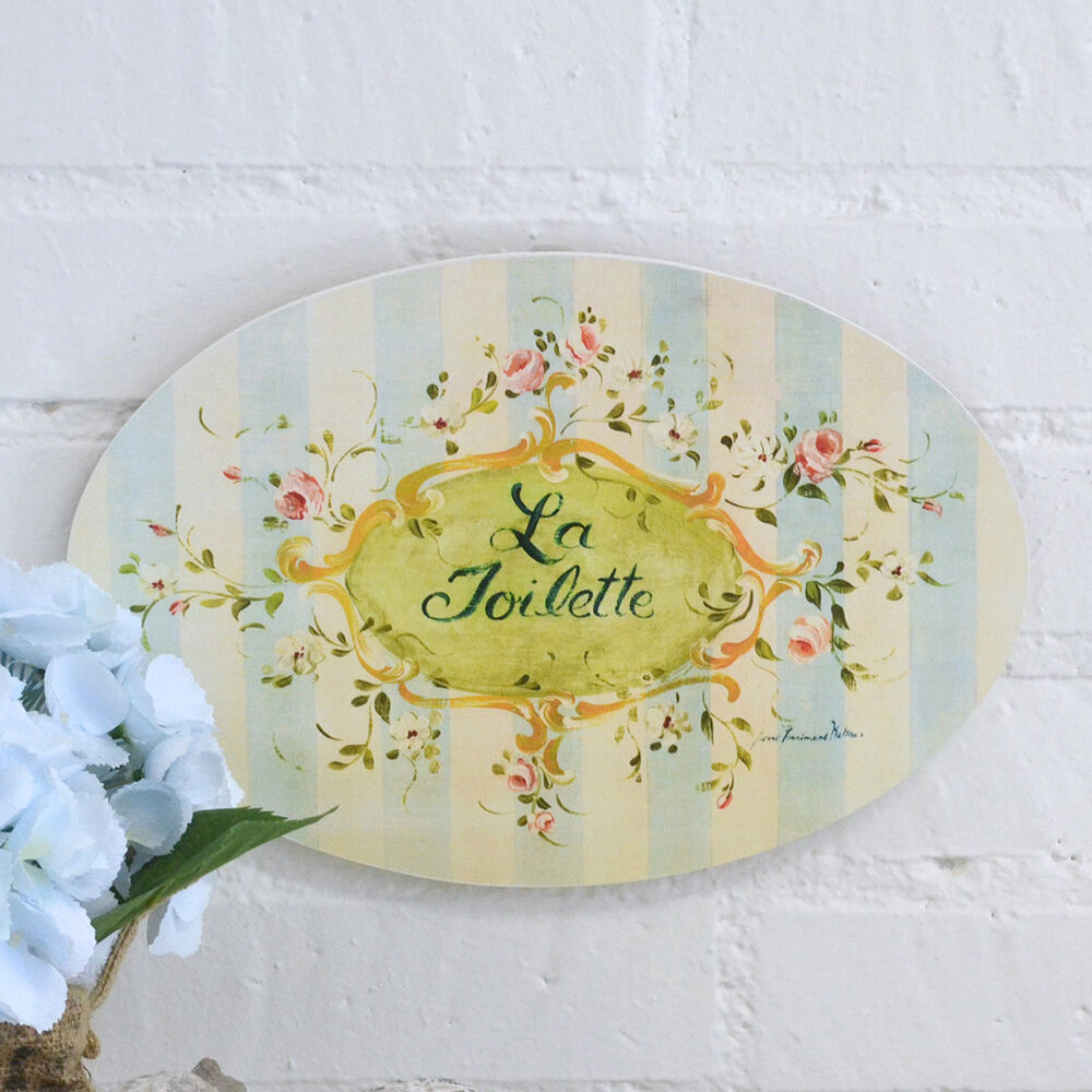 shabby cottage chic blue roses vintage style wall art plaque sign home decor ebay. Black Bedroom Furniture Sets. Home Design Ideas