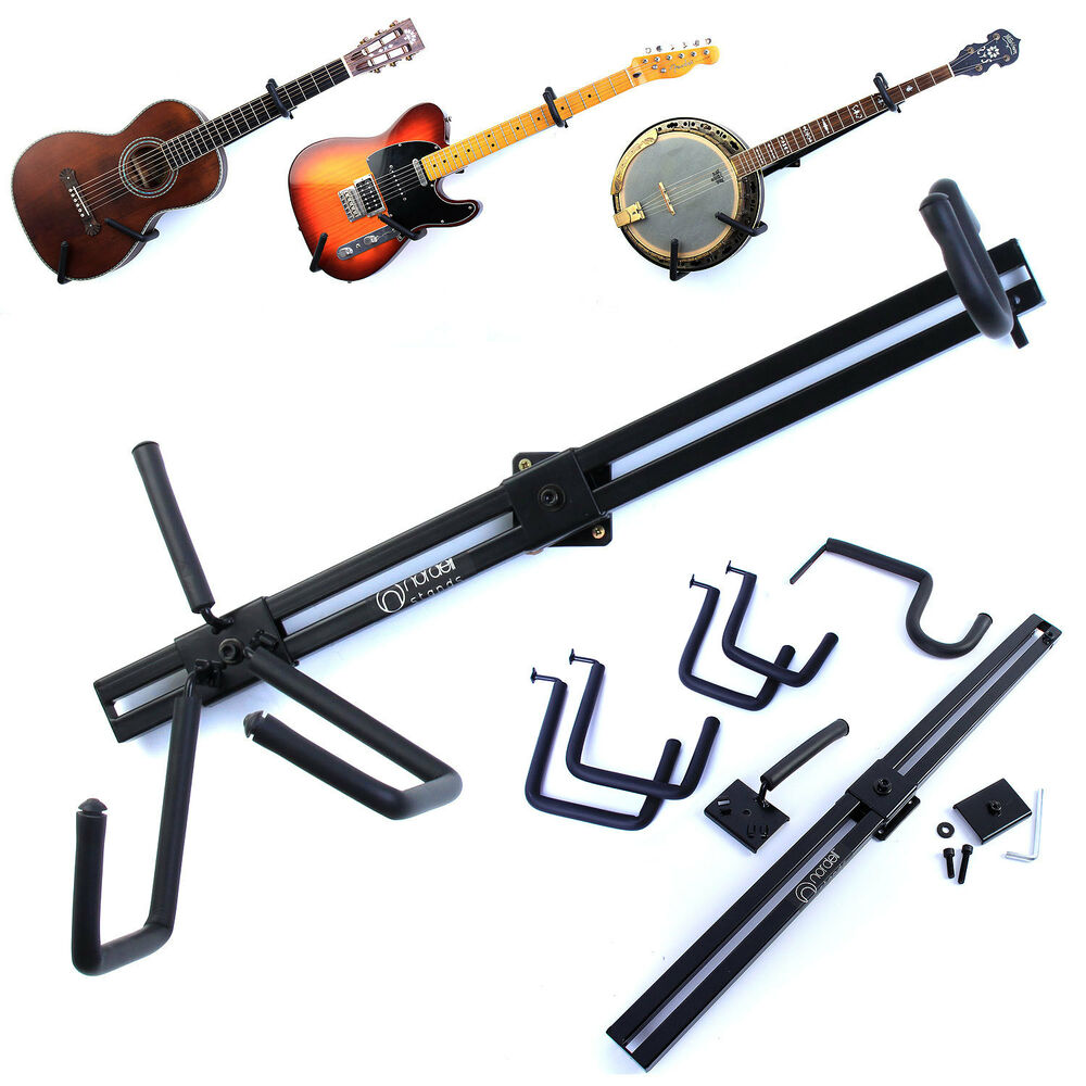 Horizontal Guitar Wall Hanger Display Bracket Mount For