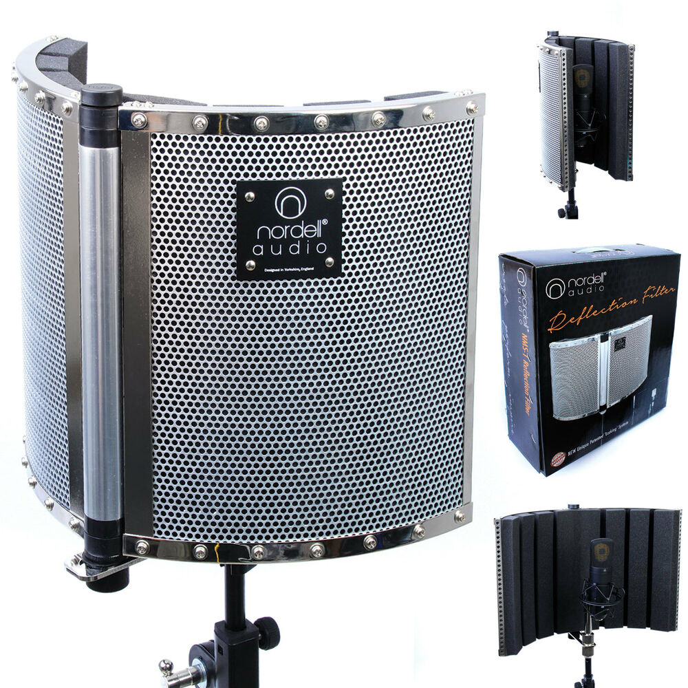 nordell 39 portable recording vocal booth microphone reflection filter screen ebay. Black Bedroom Furniture Sets. Home Design Ideas