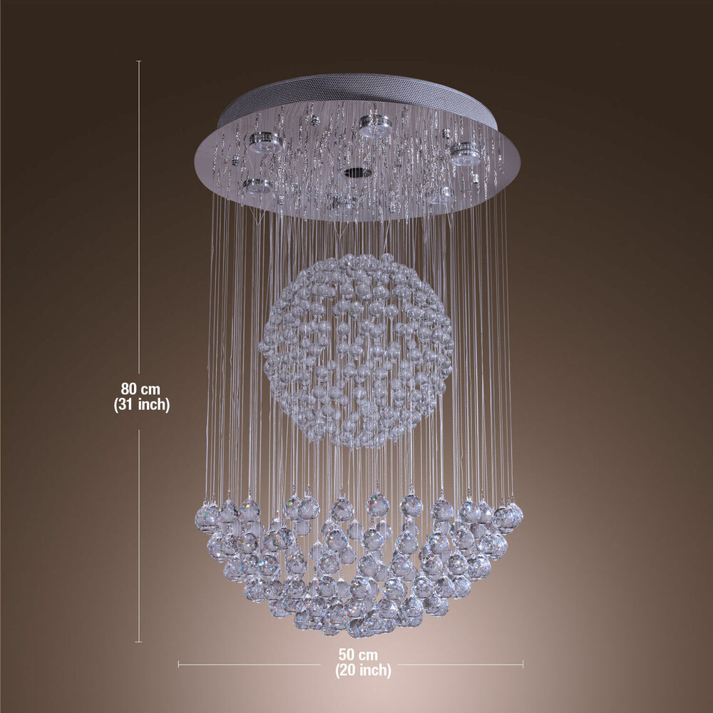 New Modern Crystal Pendant Lamp Ceiling Lighting Rain Drop
