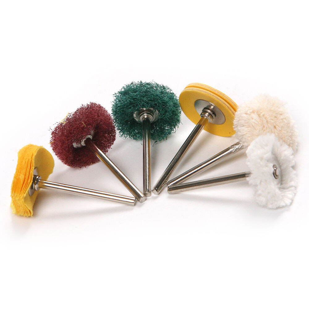 "10pc Mini Polishing 1"" Abrasive Buffing Pad Brushes For"