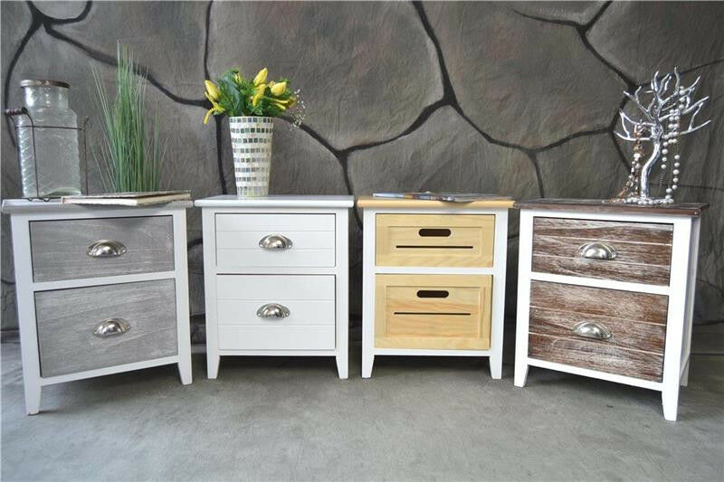 nachttisch nachtschrank nachtkonsole nachtschr nkchen landhaus shabby vintage lv ebay. Black Bedroom Furniture Sets. Home Design Ideas