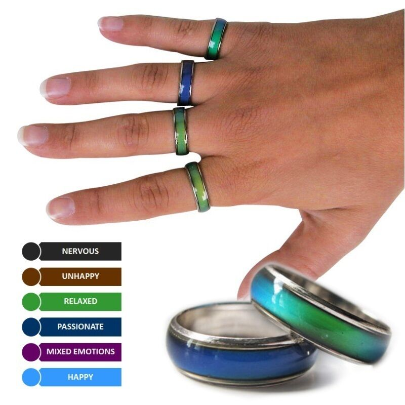 Colour Mood: AMAZING COLOUR CHANGING MOOD RING NOVELTY GIFT BIRTHDAY