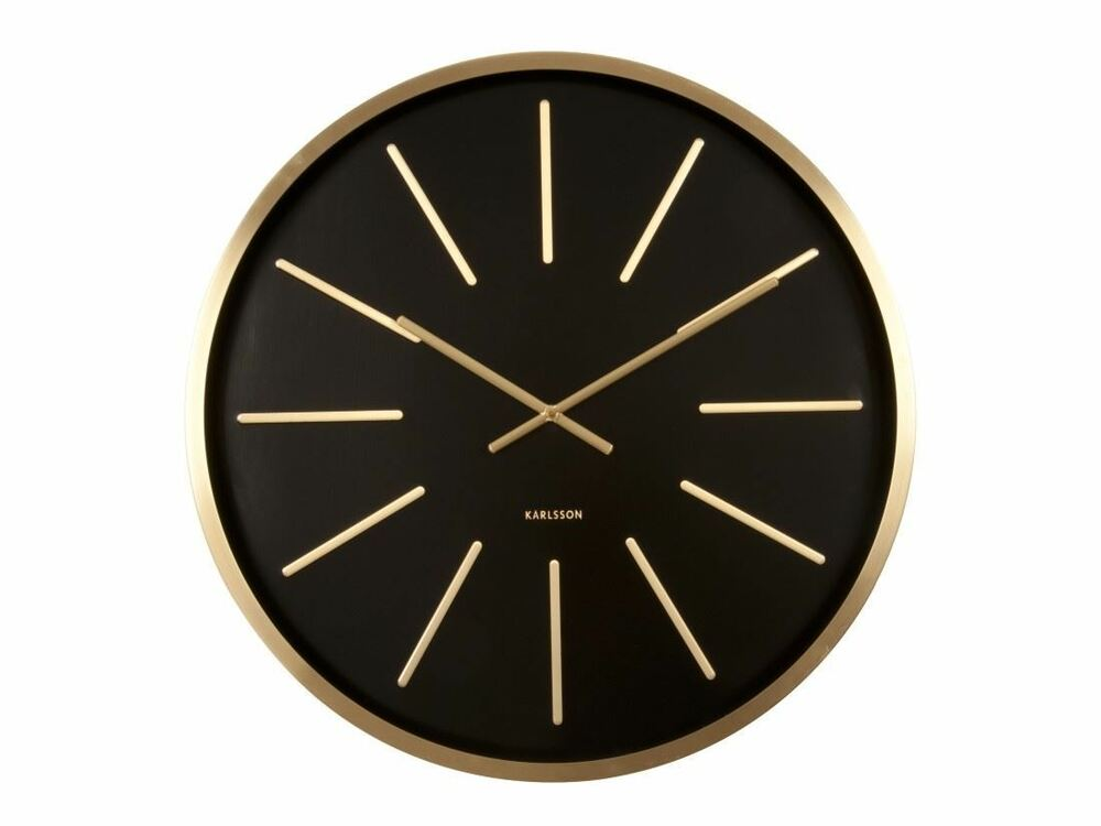 Karlsson maxiemus brass large living room wall clock modern design style ebay for Large wall clock in living room