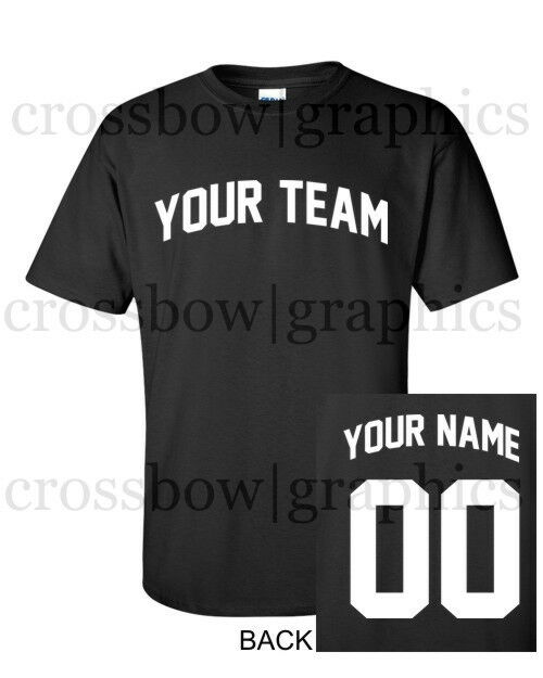 Custom t shirt jersey arched personalized any color name for Custom t shirts for teams