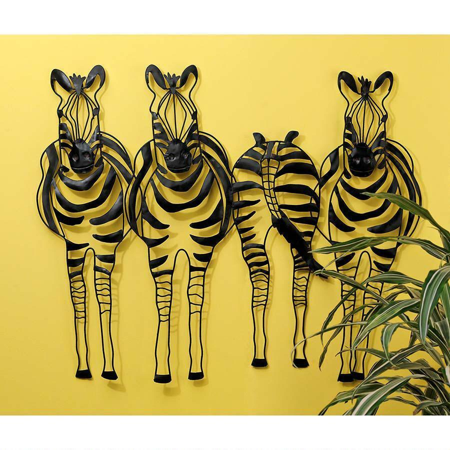 Zebra Stripes Wall Decor : African tribal wildlife animal wall art zebra stripes