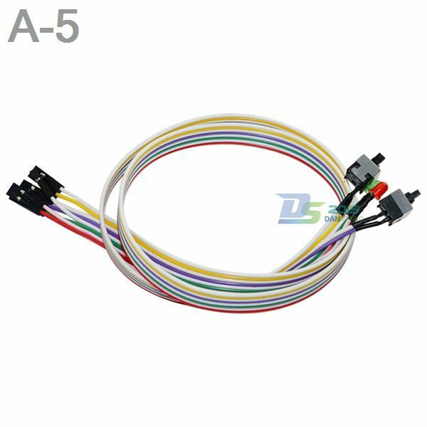 5 pc power reset switch hdd led cable light wire kit parts lots for computer ebay. Black Bedroom Furniture Sets. Home Design Ideas