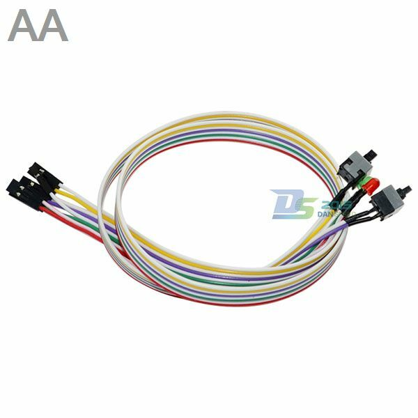 4in1 pc power reset switch hdd led cable light wire kit parts for computer hot ebay. Black Bedroom Furniture Sets. Home Design Ideas