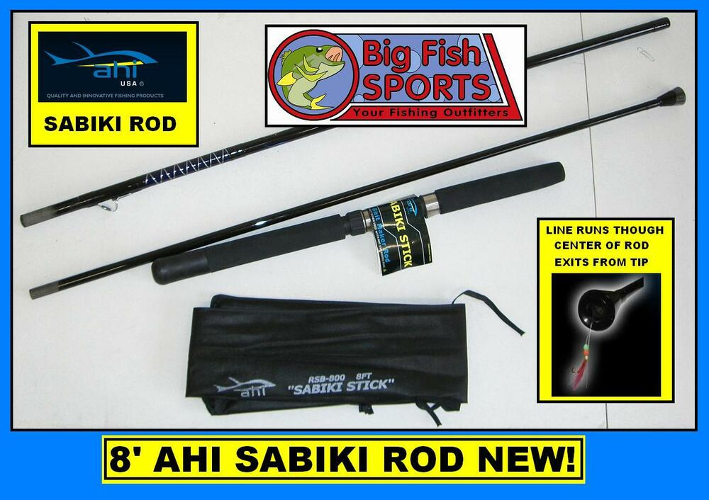 Ahi Sabiki 8 Fishing Rod Stick Includes Carrying Case Free Usa