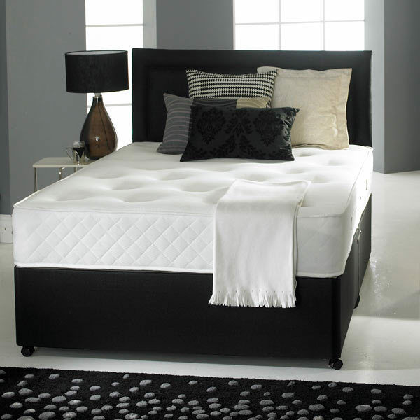 Memory Foam Divan Bed Set Mattress Headboard Size 3ft 4ft6 Double 5ft King Ebay