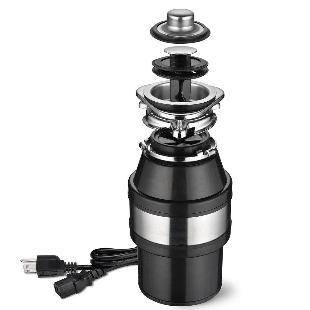 Garbage Disposal 1.0 HP Continuous Feed Home Kitchen Food