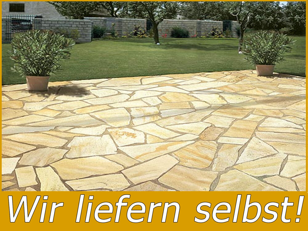 natursteinplatten mediterran terrasse polygonalplatten quarzit rio yellow 3cm ebay. Black Bedroom Furniture Sets. Home Design Ideas