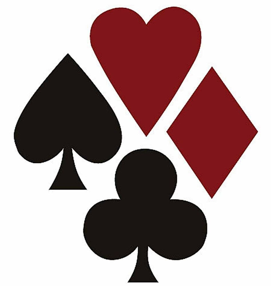 Poker suite 25 wallies spades hearts diamonds red black playing cards