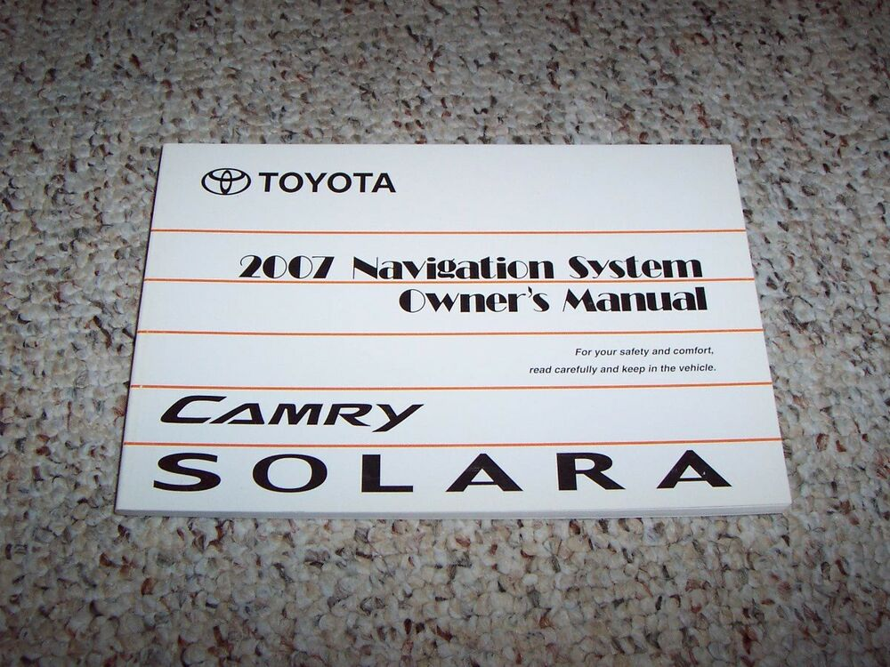 toyota camry altise 2003 wiring diagram images 2003 wiring diagram 2007 toyota camry solara factory navigation system owner user