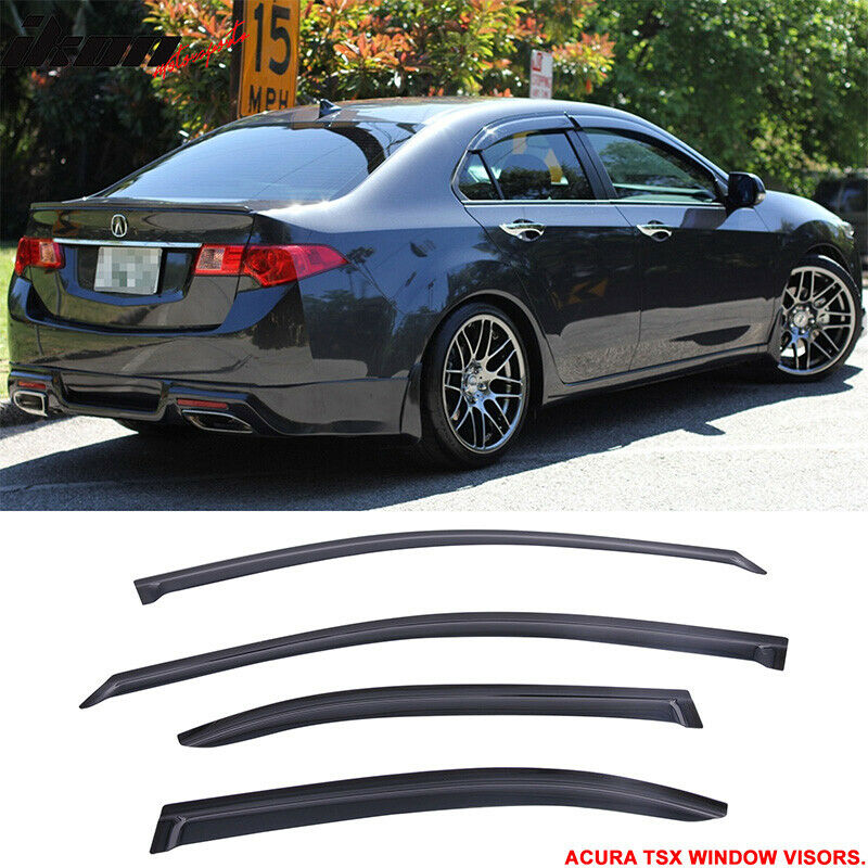 Fit For 09-14 Acura TSX Sun Window Visors Rain Vent Shade ...