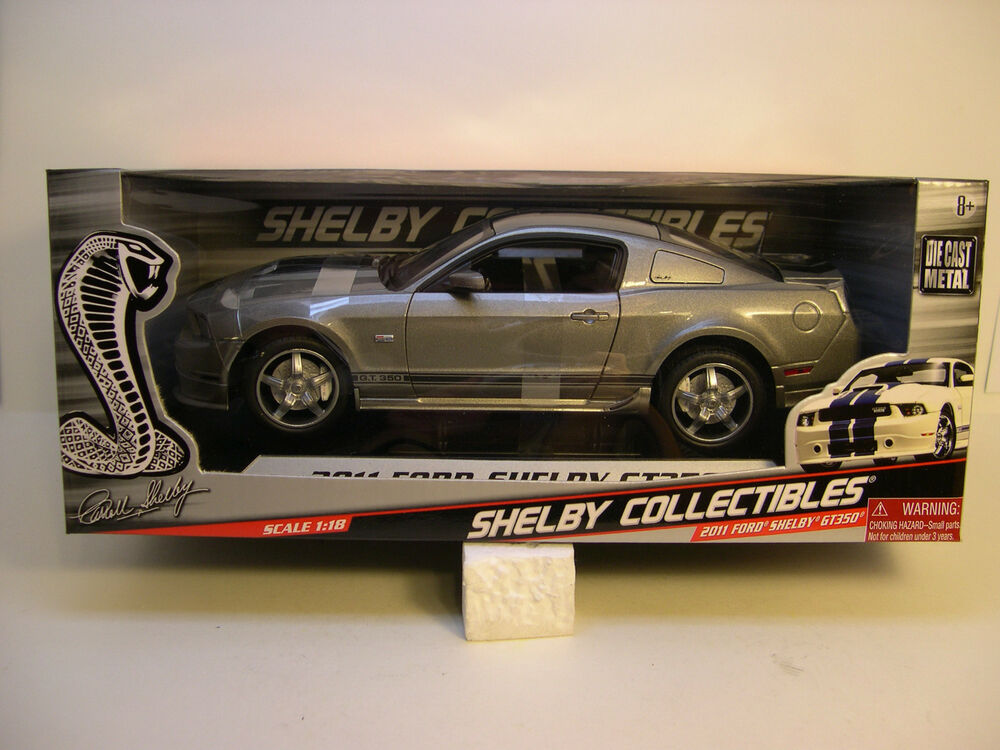 Shelby Ford Trucks >> SHELBY COLLECTIBLES 1:18 SCALE DIECAST METAL GUN METAL GRAY 2011 SHELBY GT350 | eBay