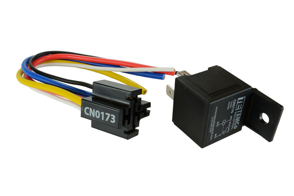 temco 12 v 30 40 amp bosch style s relay with harness. Black Bedroom Furniture Sets. Home Design Ideas