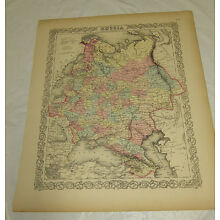1855 Large COLOR Colton Map  ///  RUSSIA