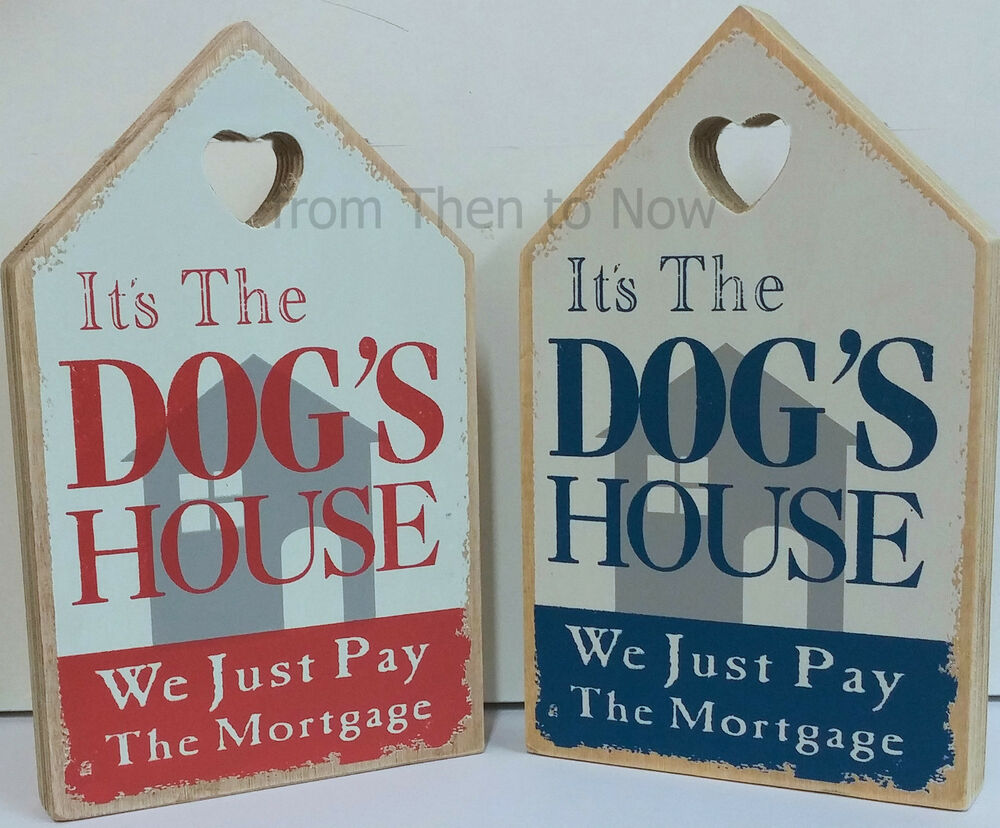 Vintage Dog House Plaque