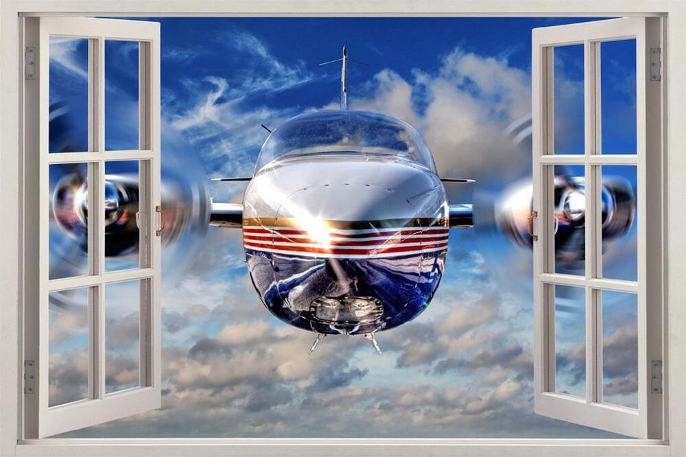 B1 Bomber Aircraft Window View Decal Wall Sticker Home
