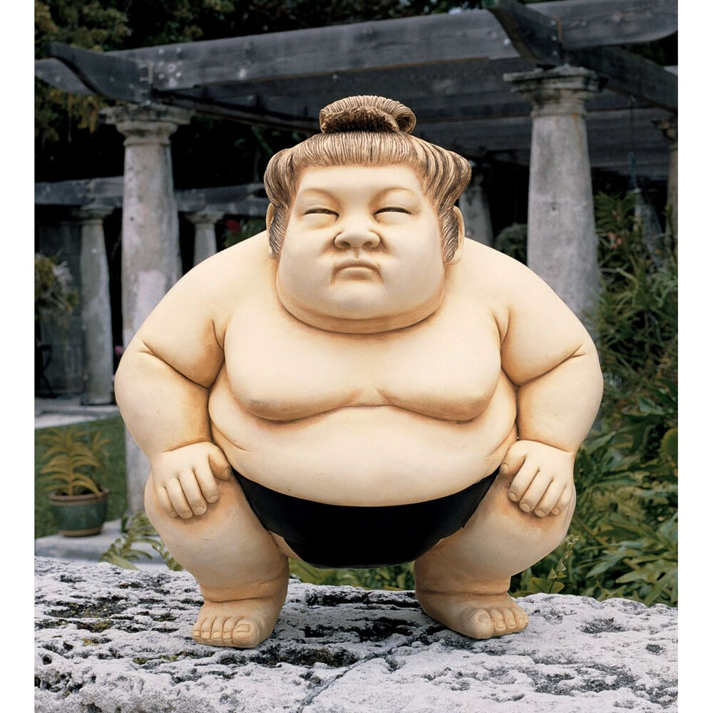 Japanese Sumo Wrestler Sculpture Asian Garden Statue Large ...