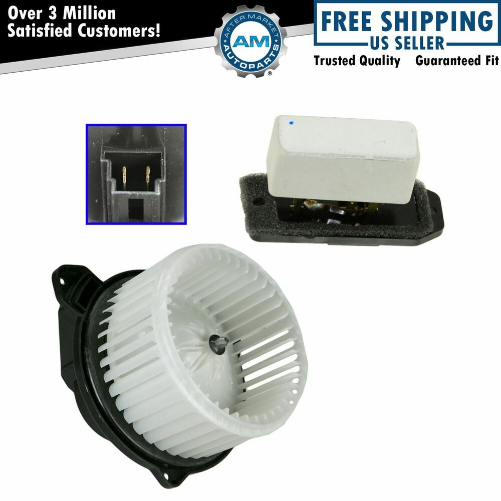 Heater Blower Motor with Fan Cage Resistor Kit Set for ...