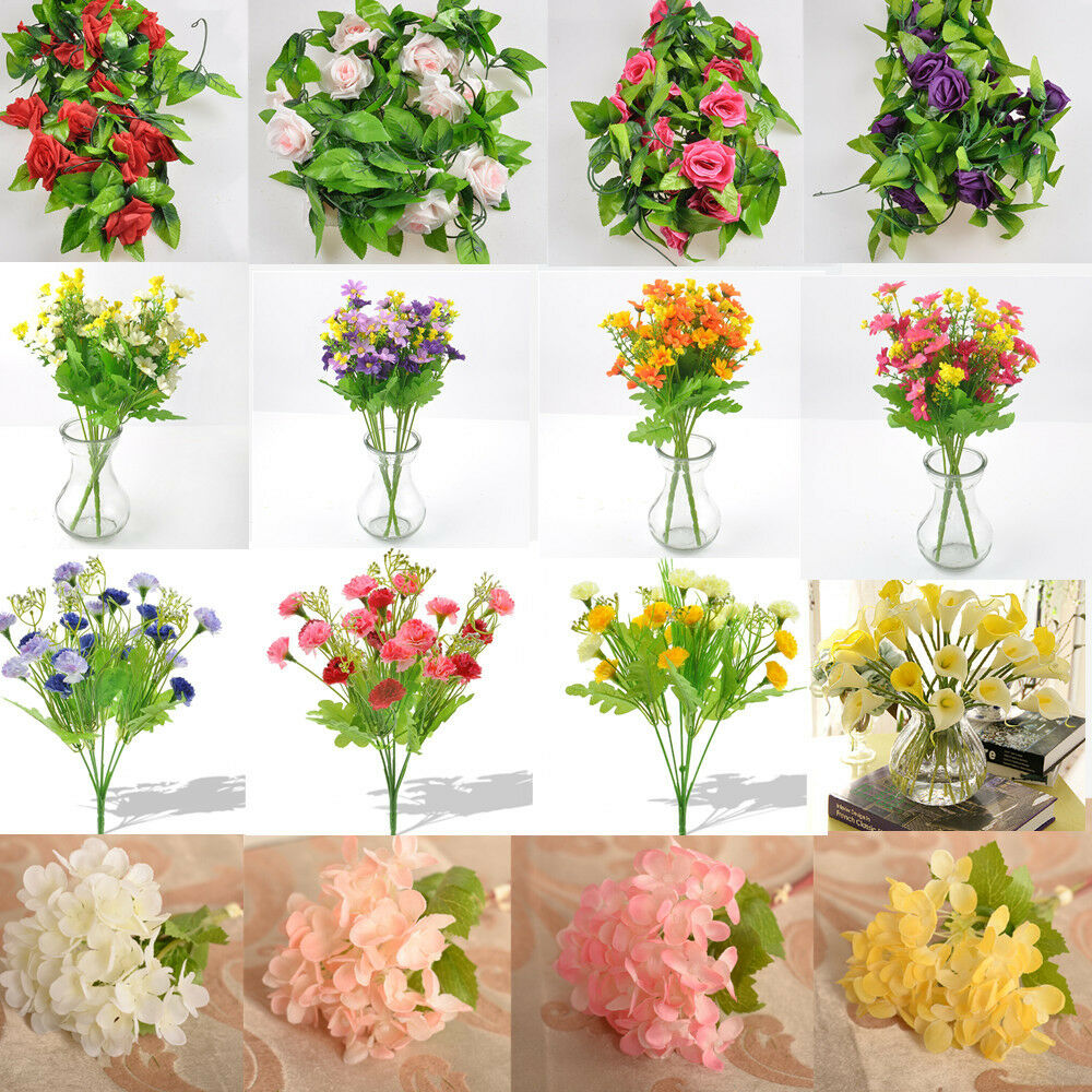 Carnation calla daisy rose lavender artificial flower for Artificial plant decoration home