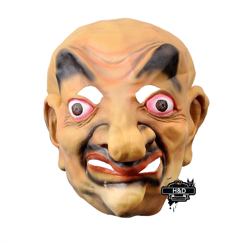 latex funny big nose geezer mask party halloween costume