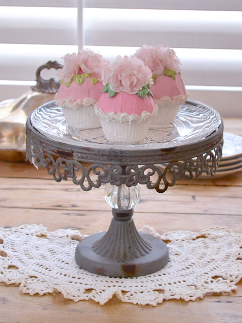 cake plate stand shabby cottage chic antique style cake stand glass 2271
