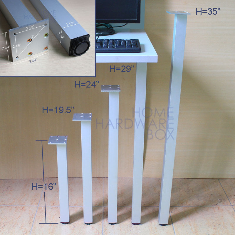 Diy furniture leg for computer table kids desk stool stand metal feet adjustable ebay - Table with telescoping legs ...