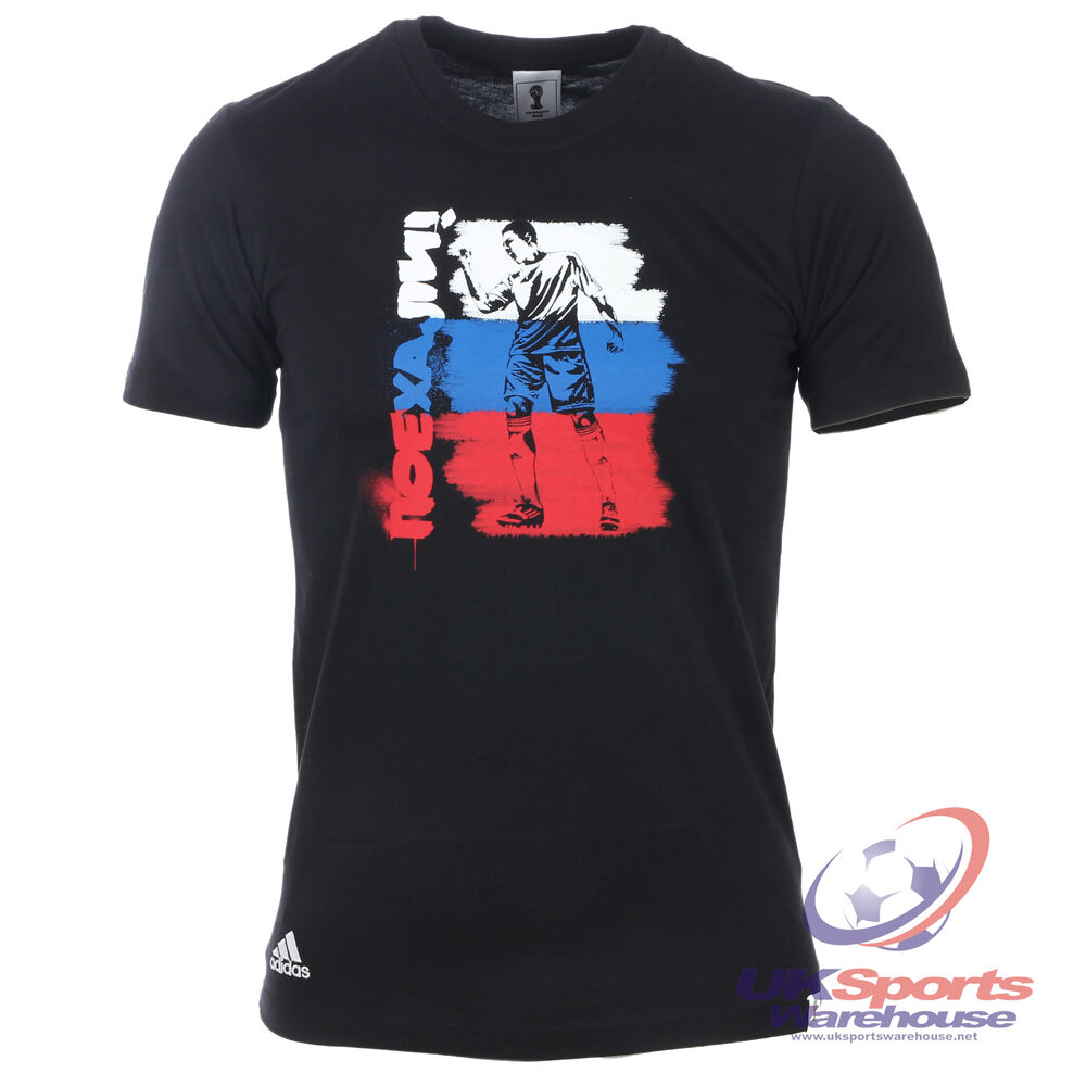 adidas mens russia graphic tee t shirt fifa world cup. Black Bedroom Furniture Sets. Home Design Ideas