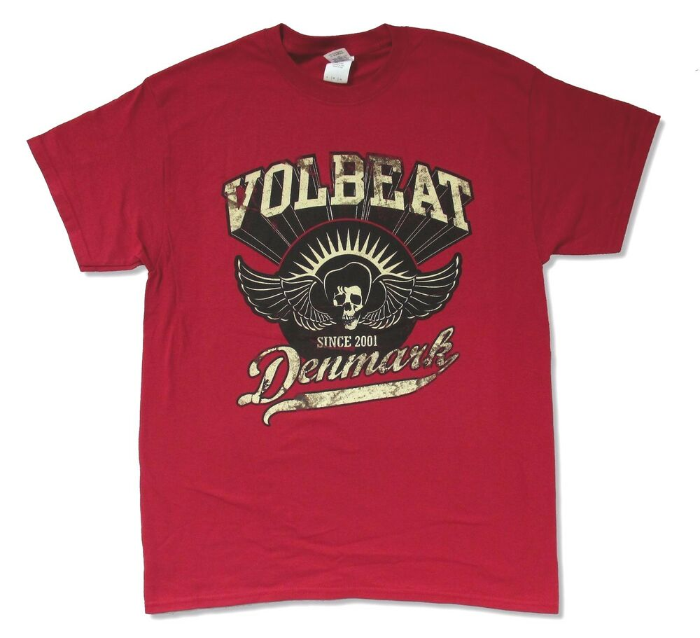 volbeat rise from denmark maroon band music t shirt new. Black Bedroom Furniture Sets. Home Design Ideas