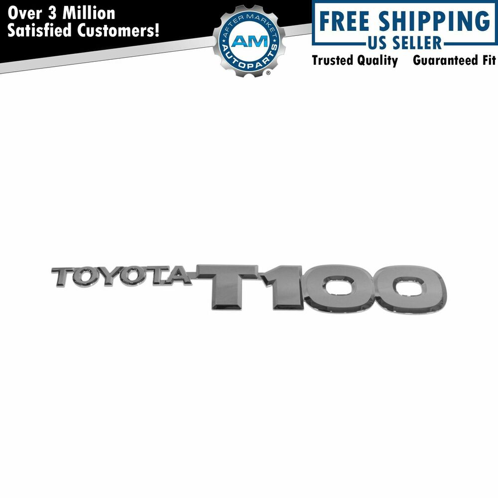 Oem 7542734010 Toyota T100 Chrome Front Door Nameplate