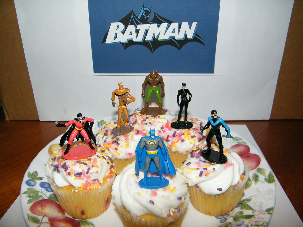 Batman And Villains Set Of 12 Cake Toppers Cupcake Toppers