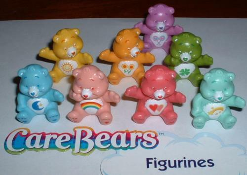 Cake Decorating Figures : CARE BEAR FIGURE CAKE TOPPER DECORATIONS SET OF 8 eBay
