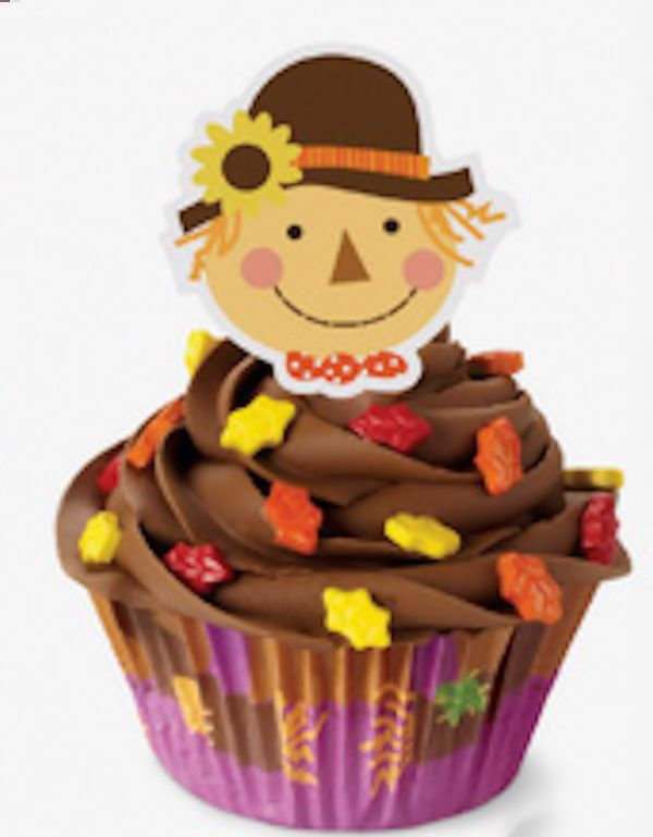 Wilton Cake Ideas For Thanksgiving : Scarecrow Thanksgiving Cupcake Decorating Kit from Wilton ...