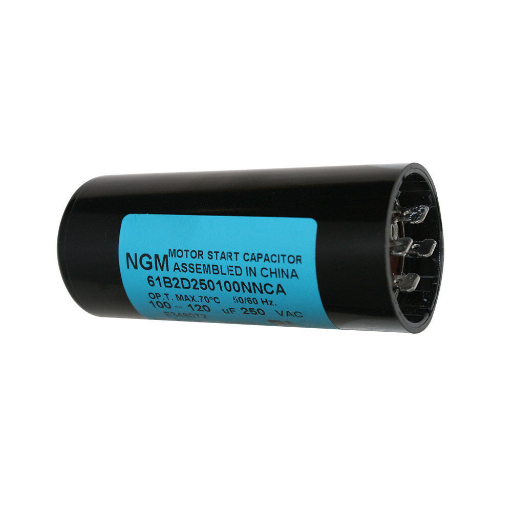Electric motor starting capacitor 100mf 250 volt 100 for Capacitors for electric motors
