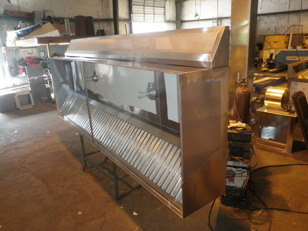 4 Ft  Type L Exhaust Hood With M U Air   New