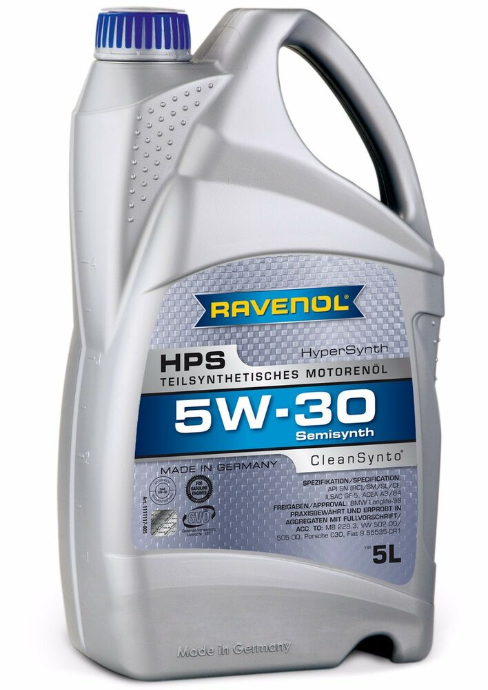 Ravenol hps 5w 30 motor oil bmw longlife 98 approved meets for Life of synthetic motor oil