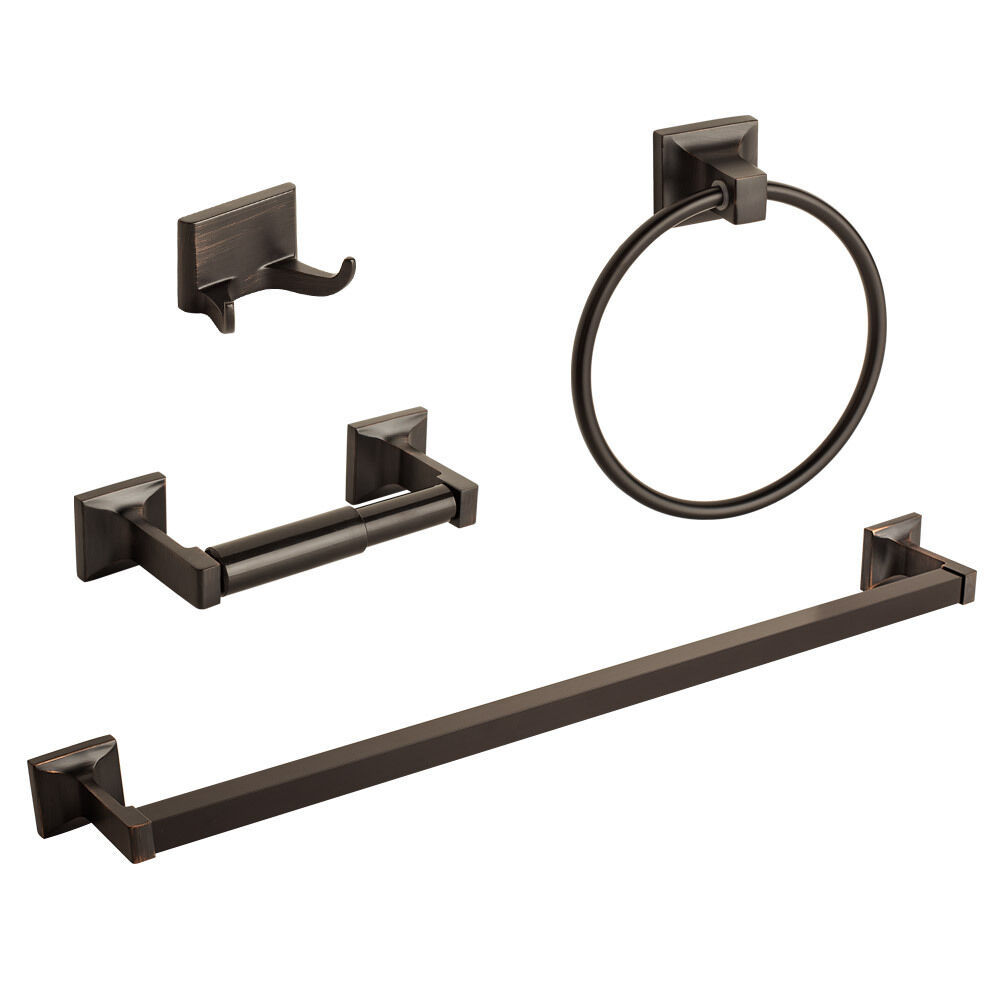 4 pcs oil rubbed bronze bathroom hardware bath accessory Oil rubbed bronze bathroom hardware
