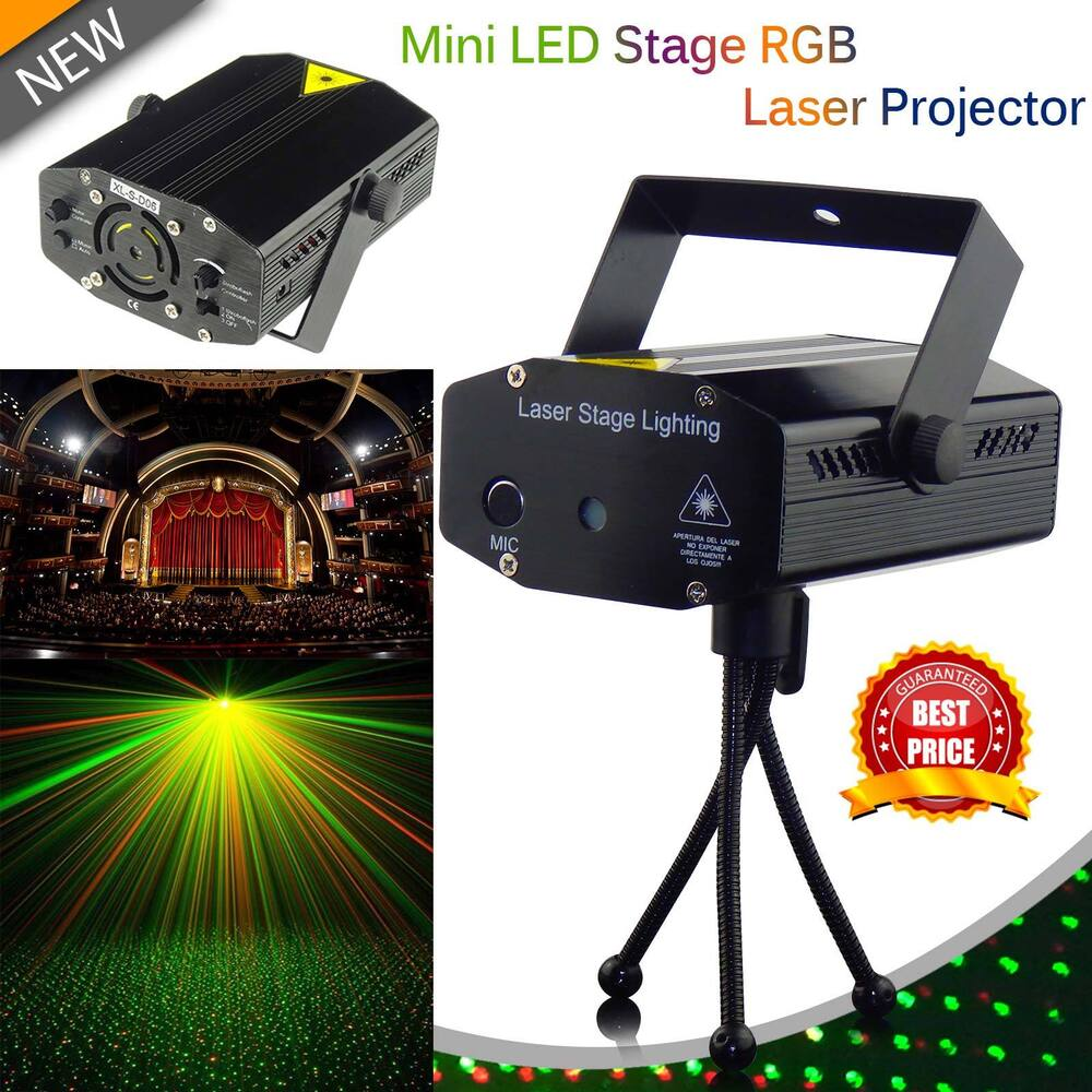 Mini Laser Projector Stage Lighting Led Rgb Lights Party