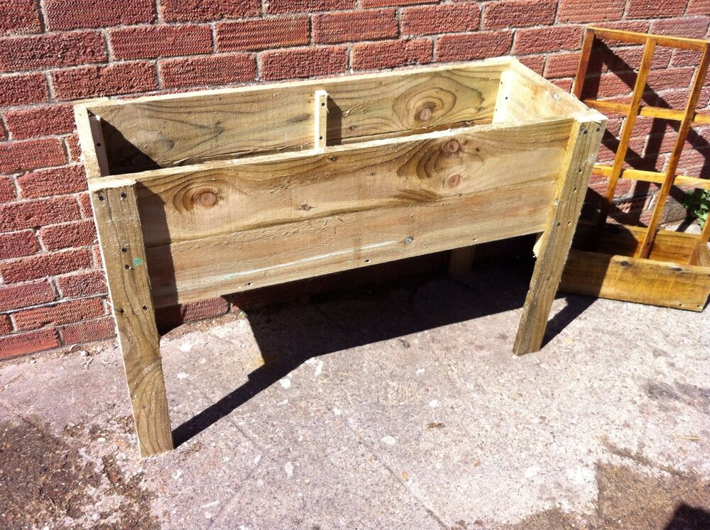 Hand made wooden raised garden planter herb window for Wooden attic box bed