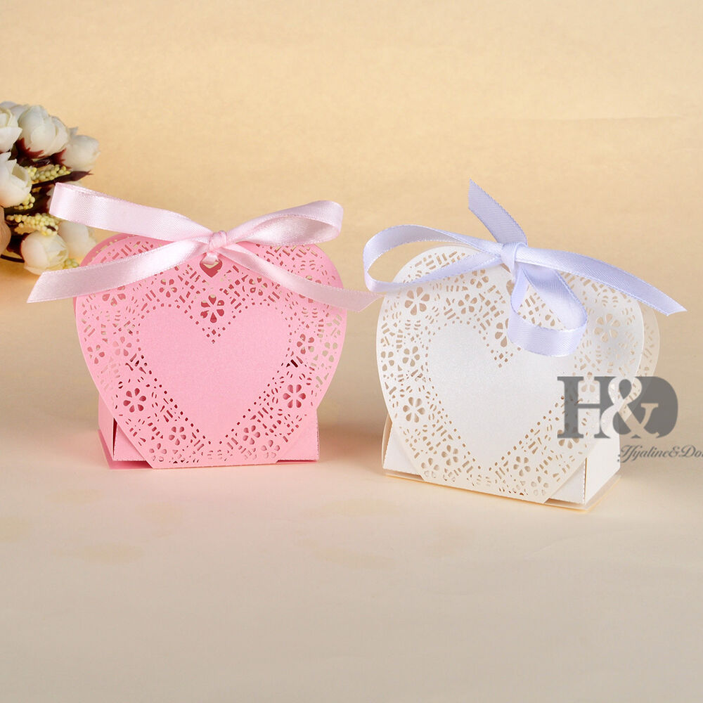 Wedding Gift Boxes Ebay : ... Cake Candy Gift Boxes Wedding Favor Shower Boxes with Ribbon eBay