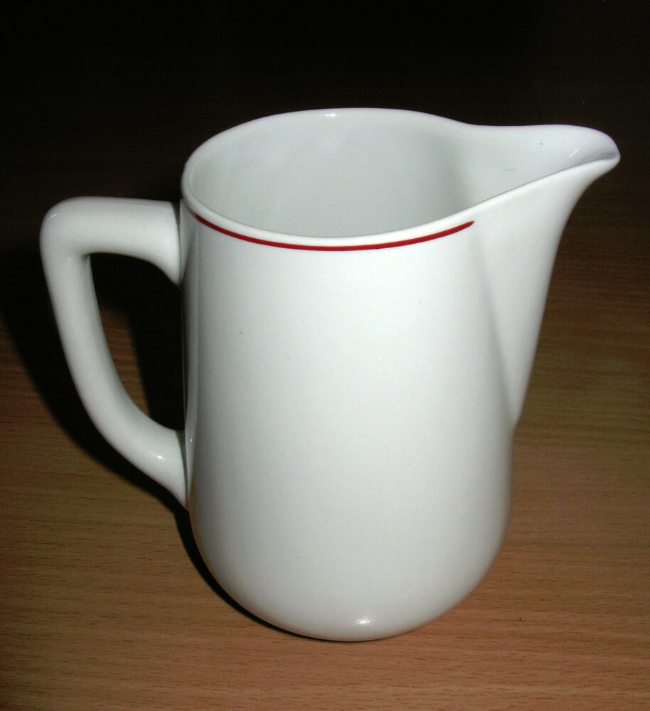 Vintage Acf Italy Espresso Pot Foaming Pitcher White