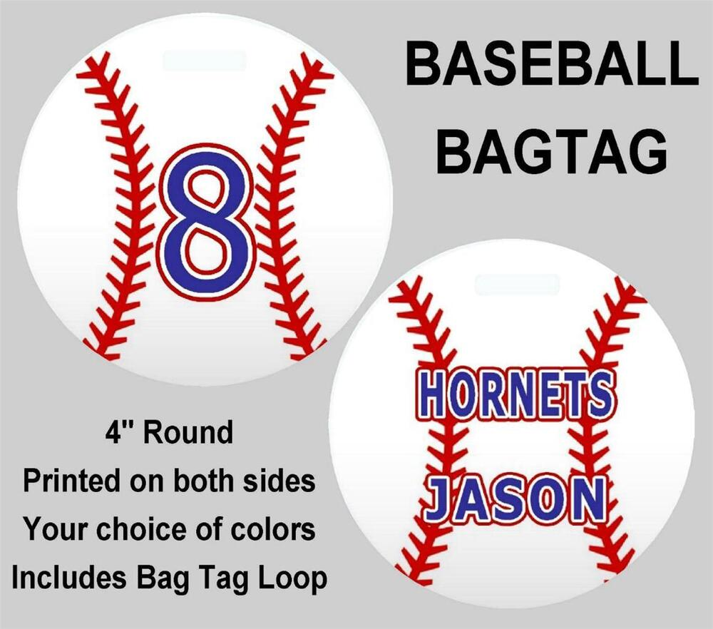 BASEBALL BAG TAG Personalized Sports Duffle Bags Backpacks ...