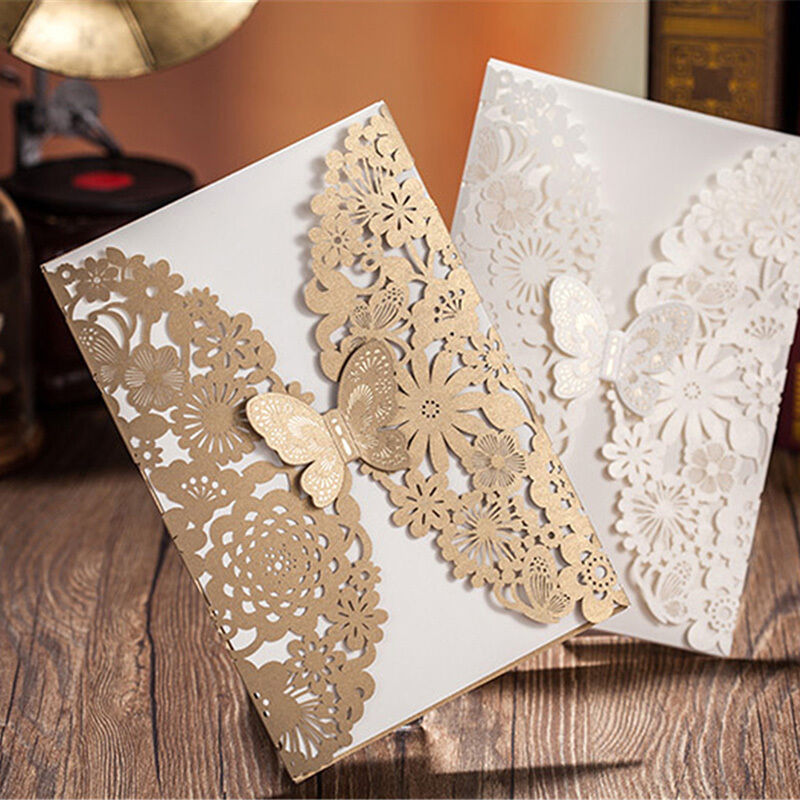 Personalized Wedding Invitation Cards Free Envelopes+Seals